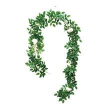Artificial Vine Silk Roses Fake Creeper Green Leaf For Home Wedding Decor DIY Hanging Garland Rattan Flowers 2M