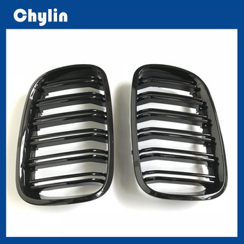 A Pair Glossy/Matt Black Front Bumper Intake Kidney Grills Front Grille for BMW X5 E70 X6 E71 X5 F15 X6 F16 2007-2018 image