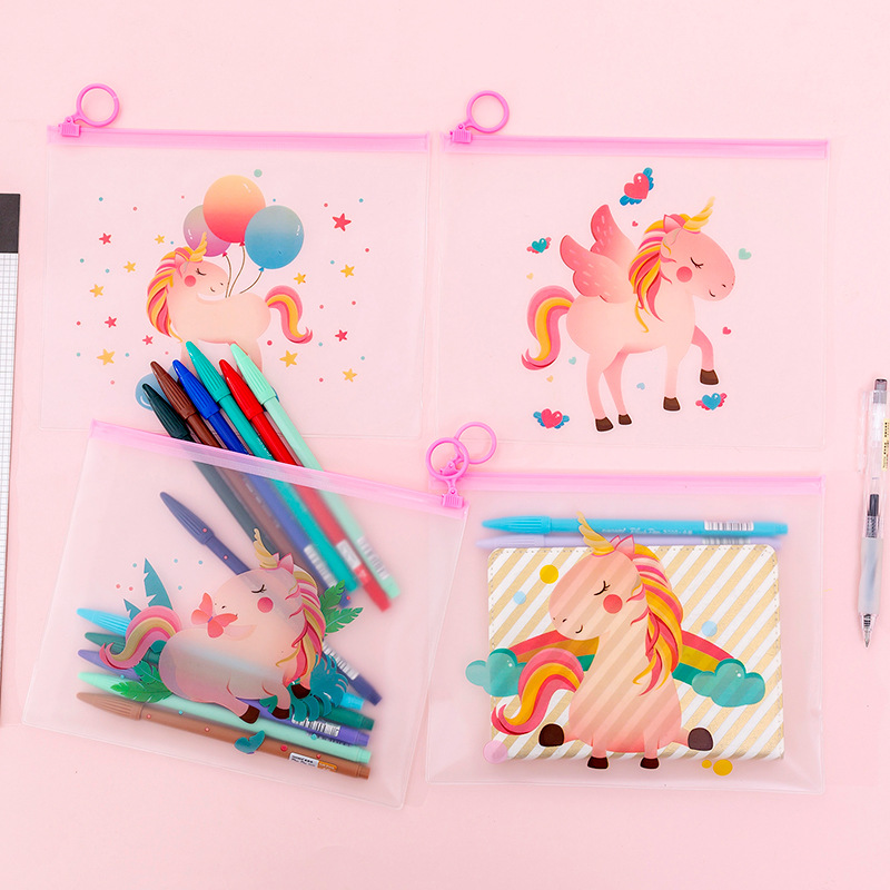 Balloon Rainbow Forest Wings Unicorn File Bag Document Bag File Folder Stationery Filing Production