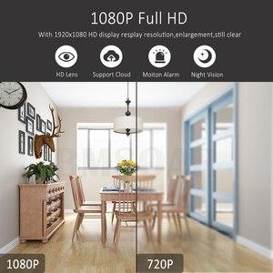 Image 3 - Mini caméra de surveillance IP WIFI Cloud hd 1080P, dispositif de sécurité sans fil, babyphone vidéo, avec Vision nocturne infrarouge, détection de mouvement et port SD