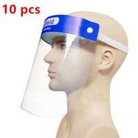 10 pces/5 pces/1 pces lote plástico transparente de segurança enfrenta protetores de viseiras de reposição da tela para a máscara de cabeça dos olhos proteção