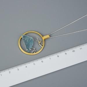 Image 5 - לוטוס כיף טבעי גלם אבן ציפור Whisper תליון ללא שרשרת אמיתי 925 סטרלינג כסף יצירתי בעבודת יד עיצוב תכשיטים