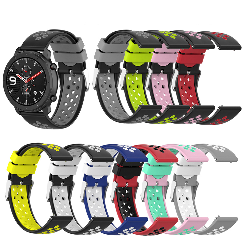 For Huami Amazfit GTR 42mm 47mm Smart Watch Bracelet Sport Strap 20 22 Mm Silicone Wrist Band For Xiaomi Amazfit Bip Lite Pace