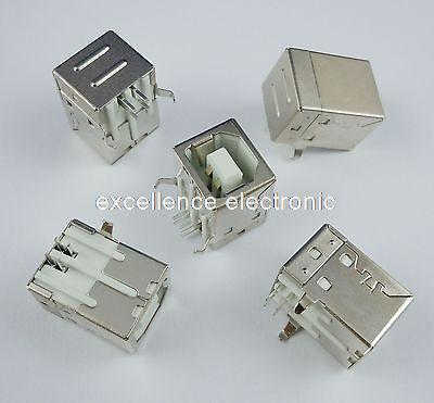 500 piezas tipo b conector usb conector puerto de impresora conector hembra ángulo recto PCB conector DB90