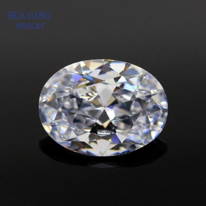Moissanite 1.5 Carat D couleur haute qualité Moissanite en vrac ovale excellente coupe 6x8mm VVS1 pour bague de fiançailles perles pour bijoux