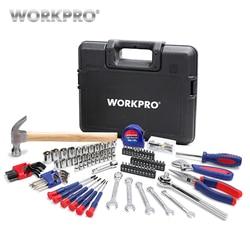 Workpro 165 pc casa ferramentas conjunto de ferramentas do agregado familiar chave de fenda alicate soquete conjunto