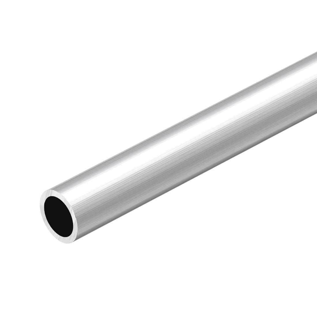 Uxcell 14mm-15mm OD 7mm-13mm Inner Dia Seamless Aluminum Straight Tubing 6063 Aluminum Round Tube 300mm Length