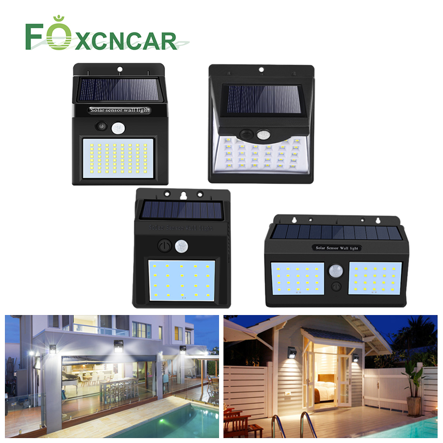 80 LED/100 LED Solar Light Outdoor Solar Lamp PIR Motion Sensor Wall Light Waterproof Solar Sunlight Powered Garden Street Light