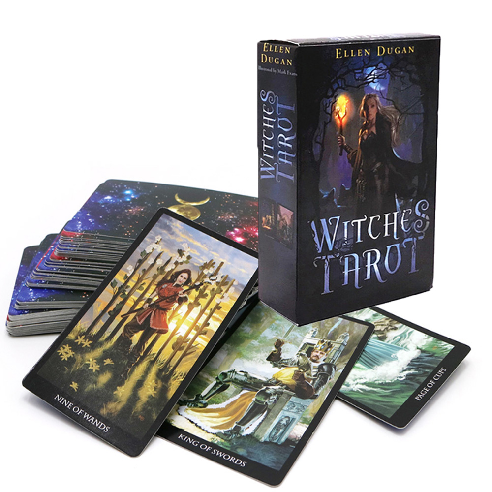 Mystic Tarot Cards English Version Read The Fate Divination Playing Board Game For Family Friends 78-card