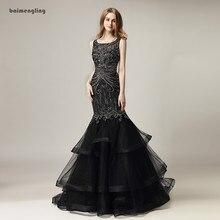 mermaid evening dress, formal beaded charming dress