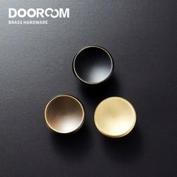 Новинка, твердые латунные ручки для мебели Dooroom, удобные ручки для дверей шкафов, шкафов, комодов, ящиков, американские ручки в сельском стил...