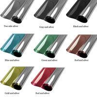 100cmx10m One Way Mirror Window Film Vinyl Self adhesive Reflective Solar film Privacy Window Tint for Home and Office