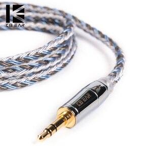Image 1 - KBEAR kapsamlı 16 çekirdekli gümüş kaplama kablo 2.5/3.5/4.4mm yükseltme dengesi kablosu MMCX/2pin/QDC/TFZ için KB06 HI7 ZSX C10 C16