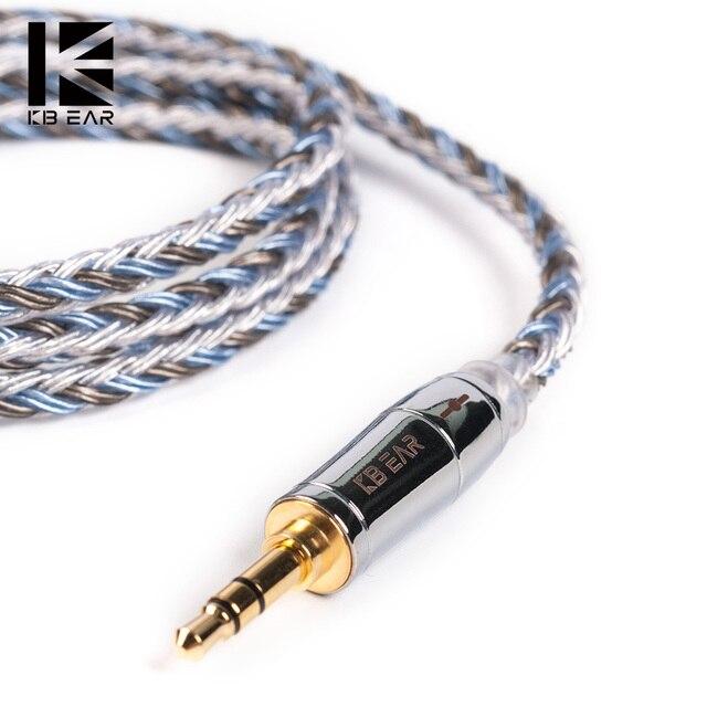 KBEAR kapsamlı 16 çekirdekli gümüş kaplama kablo 2.5/3.5/4.4mm yükseltme dengesi kablosu MMCX/2pin/QDC/TFZ için KB06 HI7 ZSX C10 C16