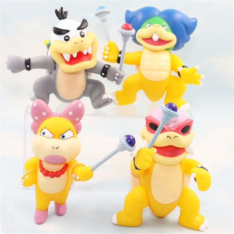 Kawaii nintendo jogo super bros anime figura modelo brinquedo bonito luigi koopa bowser cogumelo arale princesa daisy presente de natal