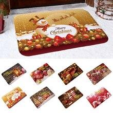 Горячая Распродажа, Рождественский напольный коврик Санта-Клаус, фланелевый ковер, нескользящий Рождественский ковер, кухонный домашний декор, несколько стилей, Счастливого Рождества