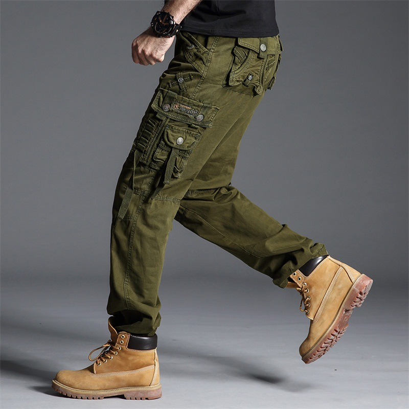 GAGA Mens Relaxed-Fit Cargo Pants Winter Outdoor Tactical Pant