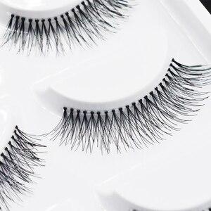 Image 1 - 5 Pairs Natural Black Long Sparse Cross False Eyelashes Fake Eye Lashes Extensions Makeup Tools