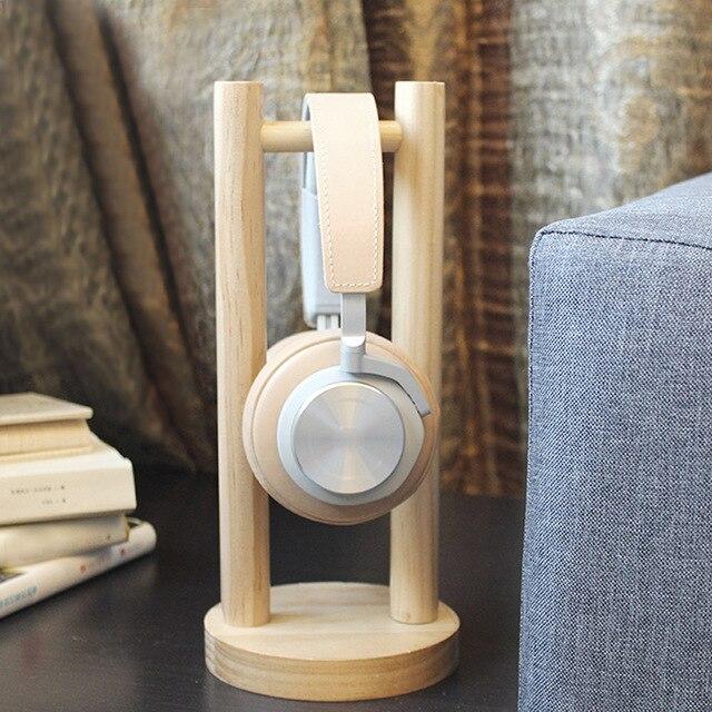 Vococal Wooden Headphone Stand Universal Headset Holder Earphone Display Rack Hanger for Bose Beats Sony Philips JVC Gaming DJ