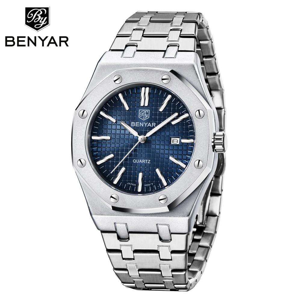 BENYAR 2020 New Luxury Brand Fashion Men Quartz Watches Waterproof Men Sports Watches Relogio Masculino Wristwatches
