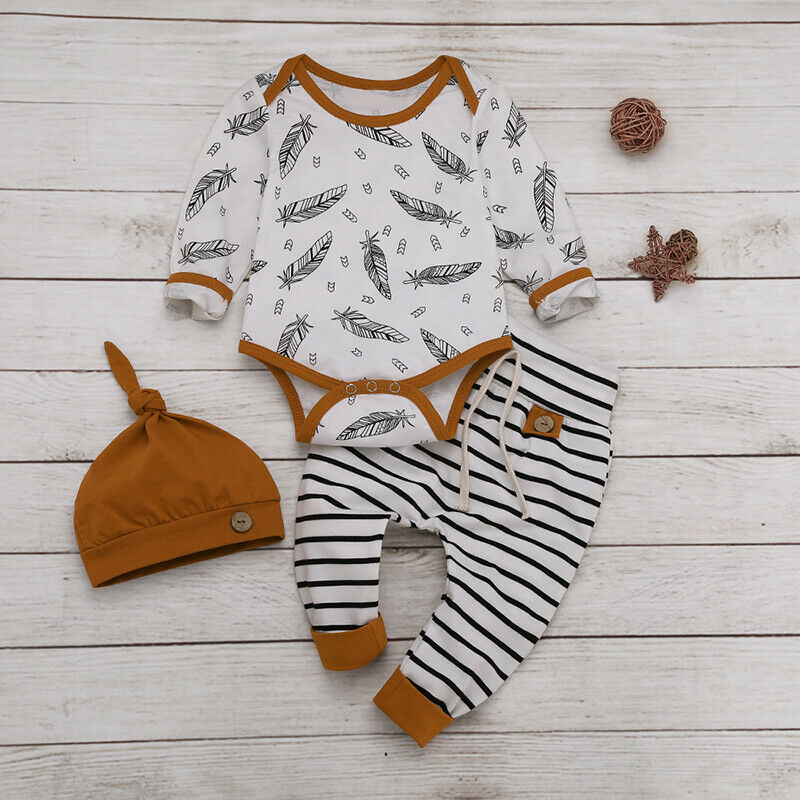 Xuefoo Infant Baby Boy Elephant Romper Jumpsuit Newborn Girl Long Sleeve Bodysuit One Piece