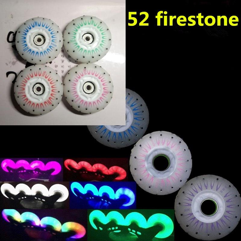 Slide KING 52 Firestone Inline Skate Wheels 80mm 90A Fire Stone Spark Shine Flint Rodas For SEBA For Powerslide Roller Skates
