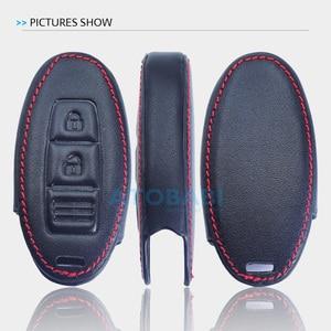 Image 5 - Leather Car Key Case For Nissan 350Z Almera Altima Armada Qashqai Cefiro Cube Juke Livina Remote Fob Protect Cover Keychain Bag