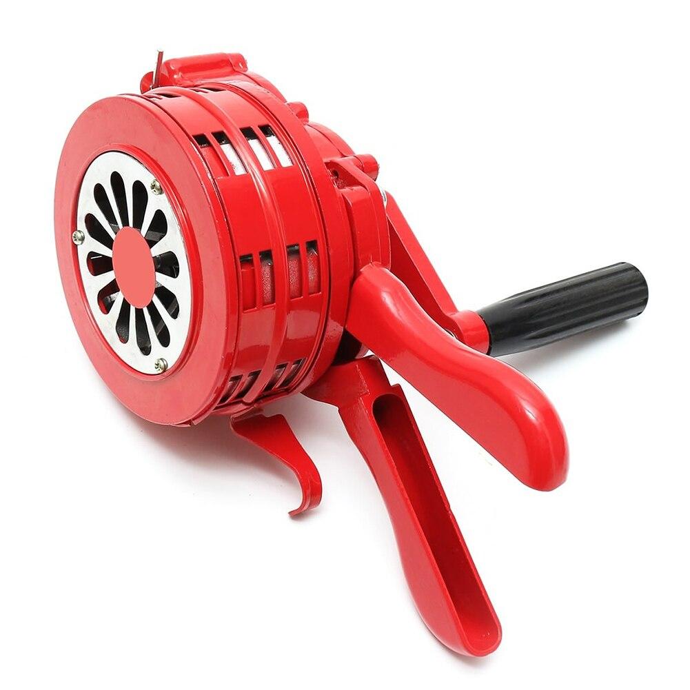 Hand Operated Crank Air Raid Safety Siren Fire Emergency Alarm Aluminum Alloy 231X202X115mm FKU66