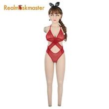 Roanyer Трансвестит силиконовые костюмы для всего тела поддельные формы груди с маской проникающая Вагина трансгендерный накладные груди транссексуал