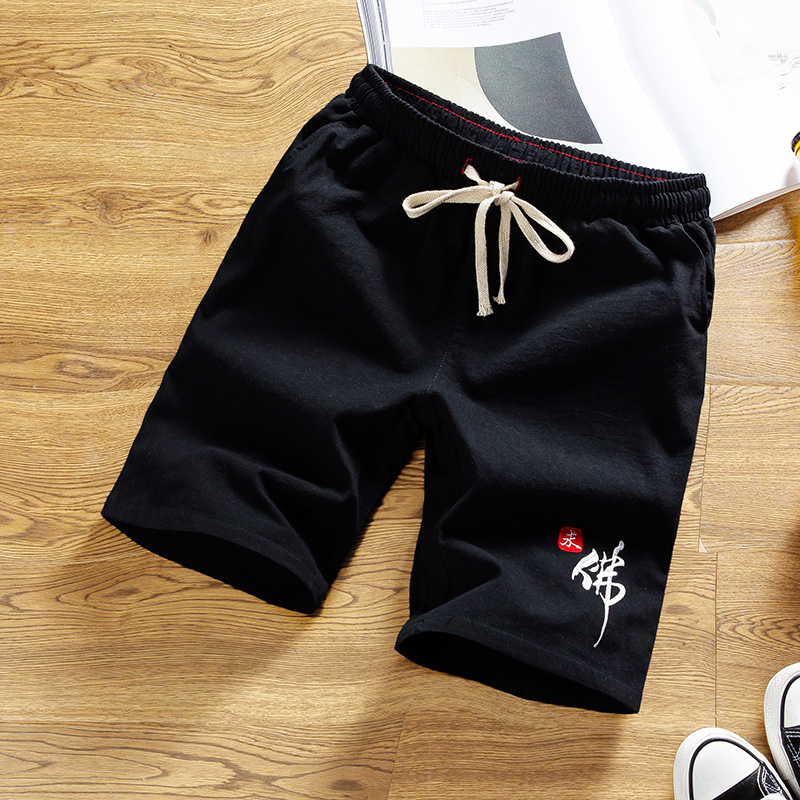 Men Shorts Chinese Style 2020 New Summer Fashion Thin Male Casual Shorts Boy Cotton Drawstring Short Pants Trousers