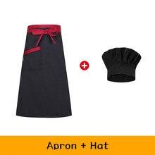 Шеф-повар фартук официанта + шляпа набор Кухня Повара Униформа Ресторан отеля выпечки рабочая одежда мужчины женщины мужчины кофе магазин е...