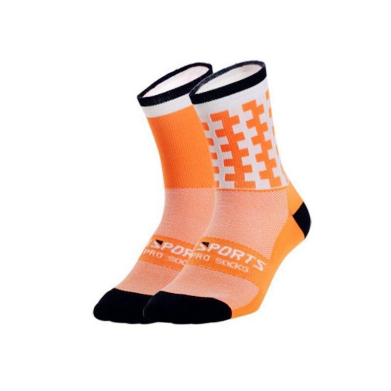 1 пара профессиональных спортивных носков для мужчин и женщин, дышащие спортивные носки для тренировок, бега, походов, альпинизма - Цвет: O