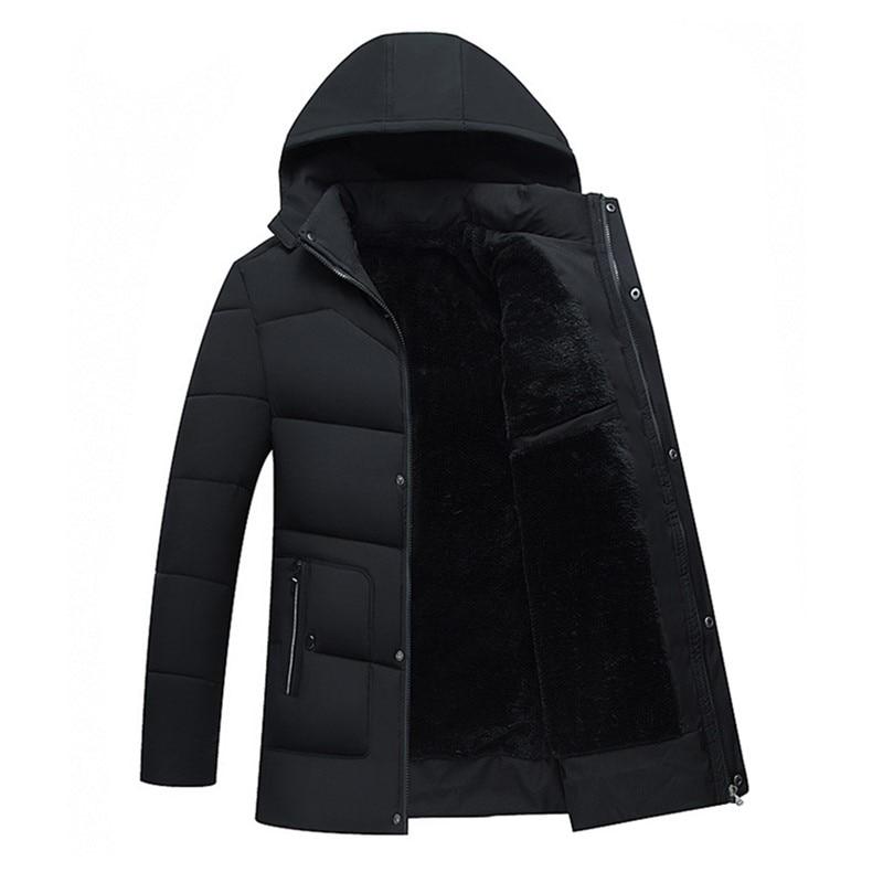 2019 Winter Jackets Men Detachable Hoody Windproof Winter Coat Long Jacket Men Fashion Thick Plus Velvet Warm Parkas Men