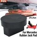 Автомобильный резиновый домкрат с рамкой, адаптер для пола с прорезями для Mercedes S CLK A M SLK B C E S GLC Jack, защитная накладка на диск, Аксессуары для ...