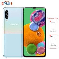 Новый Samsung Galaxy A90 5G мобильный телефон Snapdragon 855 8 Гб RAM 128 ГБ ROM A9080 6,7 дюйм48MP Тройная камера 4500 мАч NFC 5G смартфон