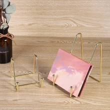 Iron Decorative Rack Portable Easel Exquisite Bookshelf Multipurpose Stand Holder Picture Frame Display