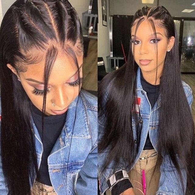 Кружевные парики Fabwigs, полностью кружевные парики с детскими волосами, предварительно отобранные бесклеевые парики из человеческих волос, Искусственные парики для головы, отбеленные узлы