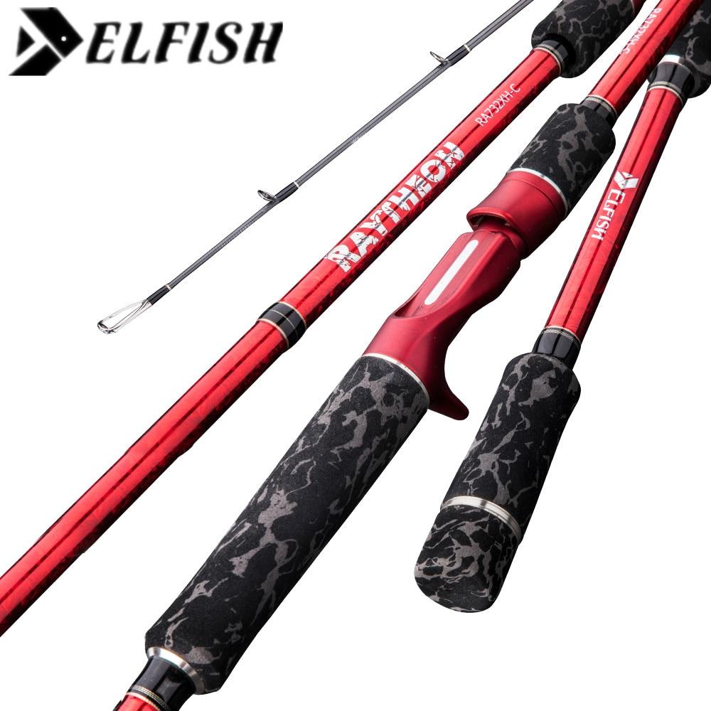 ELFISH 2Sec Casting Rod 2.23m/XH/10-30g/PE 2-6# TORAY Carbon Lure Fishing Rod Pesca Stick Fishing Pole Baitcasting Rod