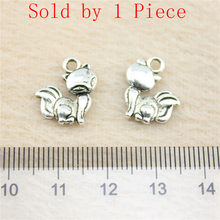 Retail Display 1 Piece 14x14mm Fox Charms Pendant For Making Jewelry Jewellery(China)
