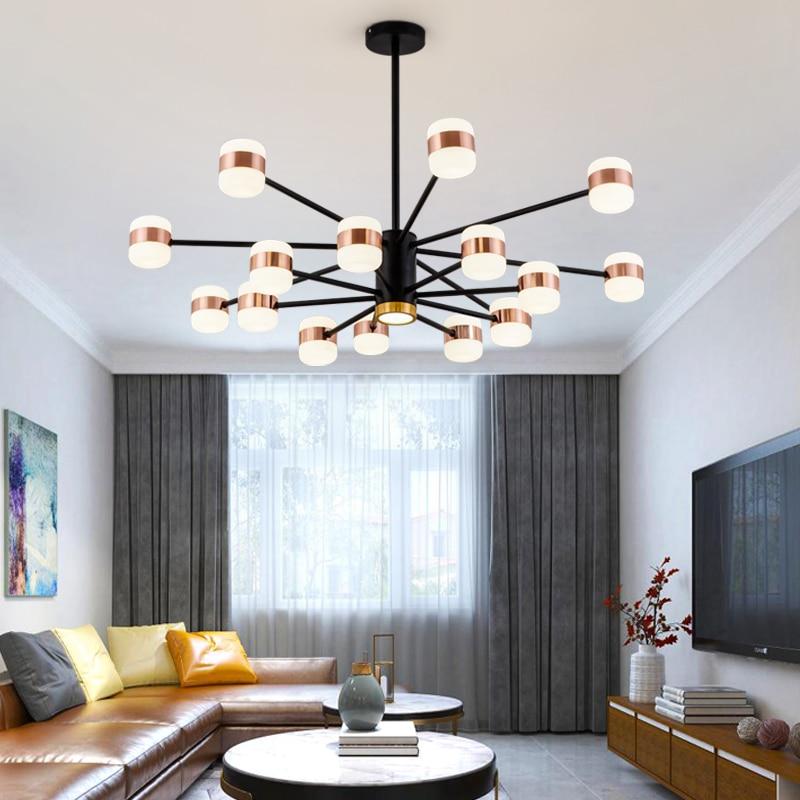 Nordycki współczesny LED sypialnia salon lampa wisząca do jadalni akrylowy abażur wisiorek światła osobowość twórcza wiszące lam