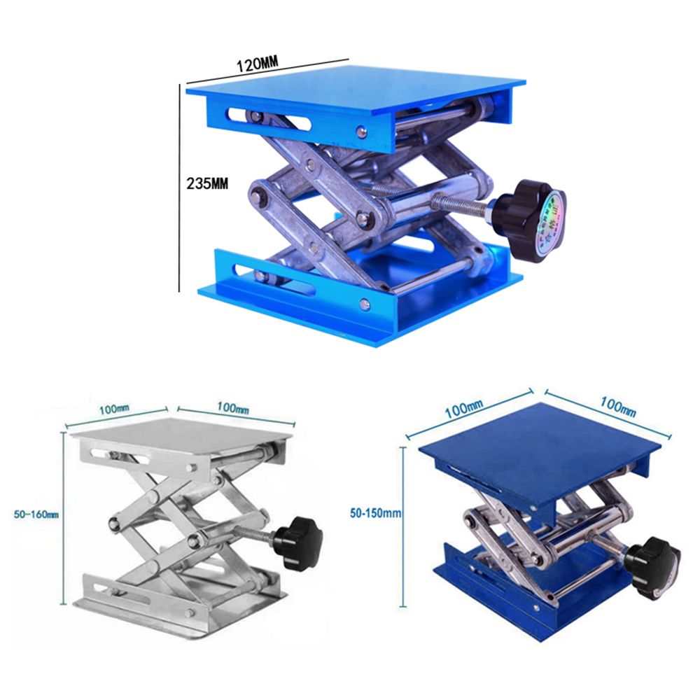 Tools : Aluminum Router Lift Table Woodworking Engraving Laboratory Lifting Stand Rack Lift Mini Platform Woodworking Benches