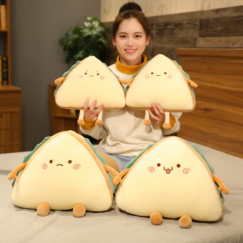 Simulation Food Sandwich Cake Plush Toy Cute Bread Stuffed Doll Soft Nap Sleep Pillow Sofa Bed Cushion Creative Birthday Gift