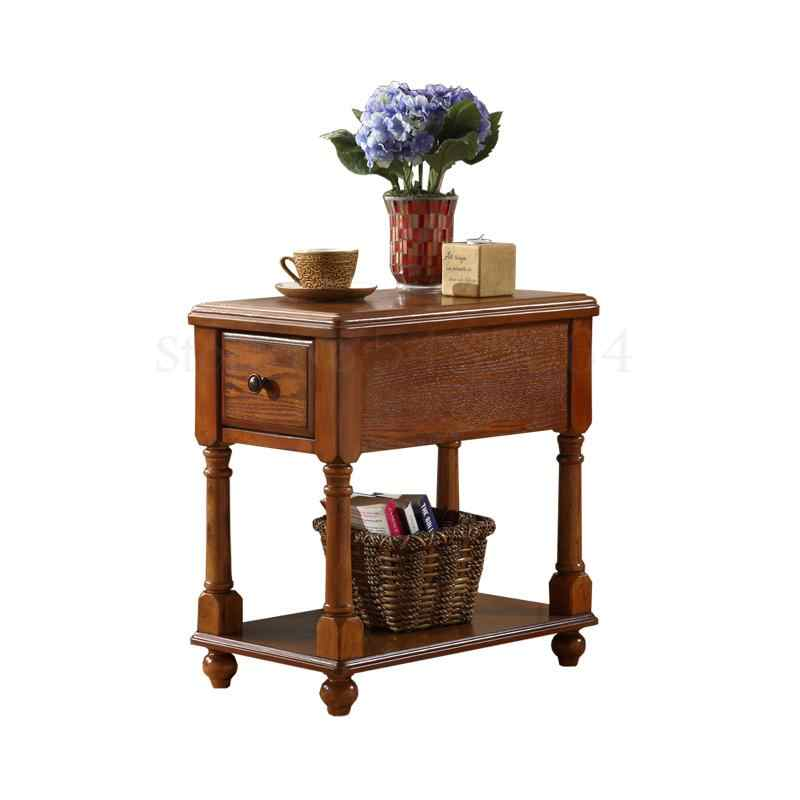 American Solid Wood Side Table Sofa Side Cabinet Corner Table Narrow Side Table Locker Simple Coffee Table Phone Table Mini Beds Aliexpress