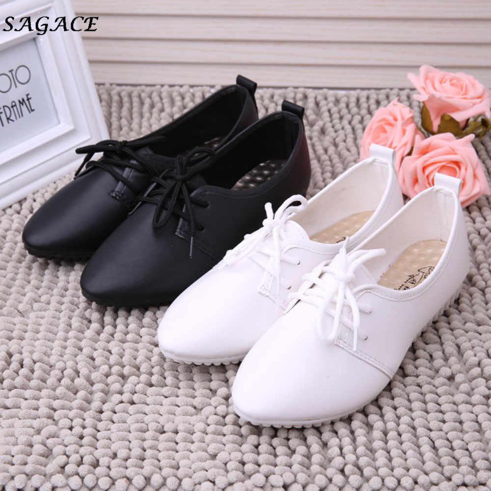 CAGACE 2018 sıcak yeni moda ışık yüksek kaliteli kadın kızlar Flats ayakkabı üzerinde kayma rahat ayakkabılar düz ayakkabı loafer'lar