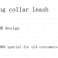 Fashion Dog Collar leash sets B968