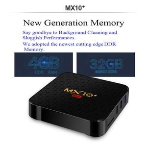 Image 2 - MX10 PLUS 6K Smart TV BOX Android 9.0 4GB 64GB Allwinner H6 Quad Core BT4.0 2.4G/5G Dual WIFI 3D 6K HDR Media Player Set Top Box