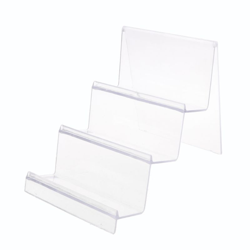 Clear Acrylic Wallet Display Stand Holder Leather Handbag Purse Jewelry Stand