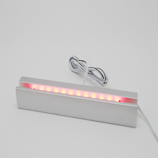 Mur LED lumière acrylique verre attelle lampe éclairer vis entretoises attache signalisation panneau daffichage publicité symbole plaque clou