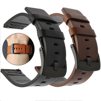 Armband für Samsung Galaxy uhr 3 46mm 42mm Aktive 2 40 44 Getriebe s3 Uhr Band Strap 20 22 24mm Echtes Leder Armband