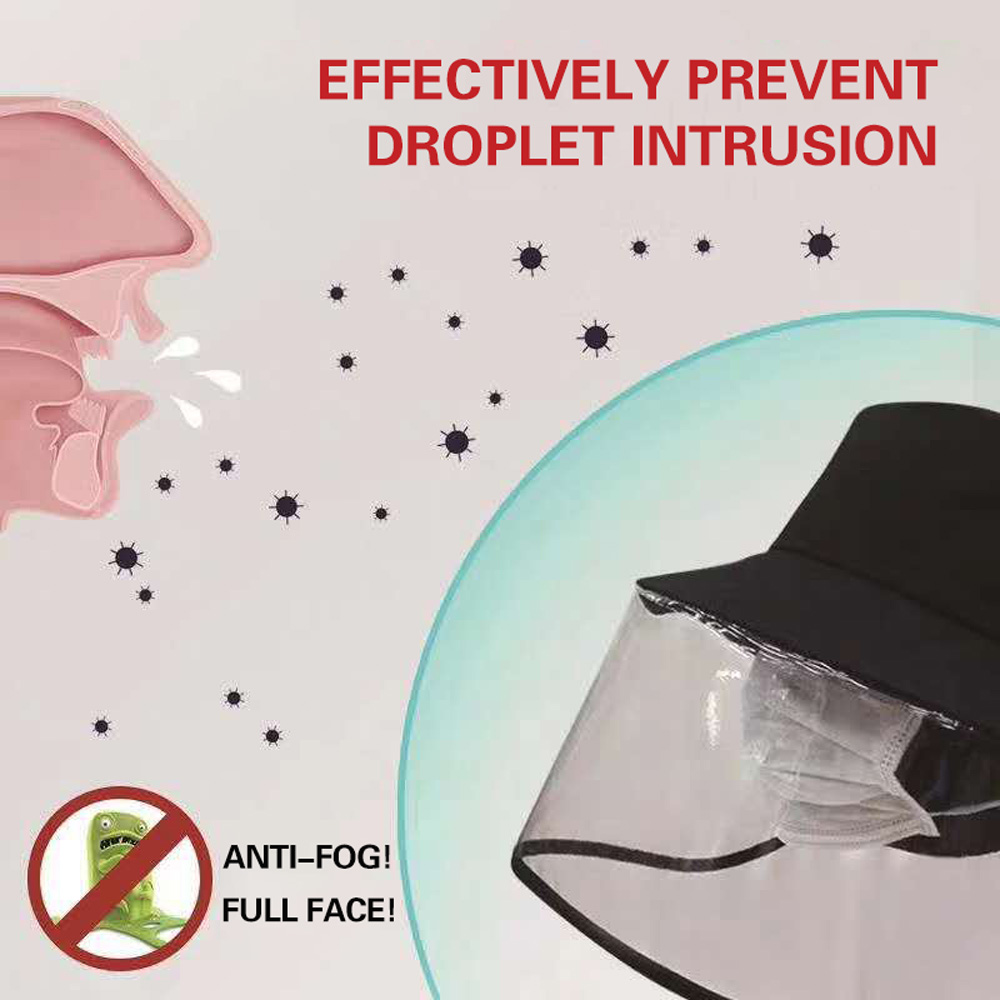 1pc/20pcs Clear Face Cover and Transparent Fisherman Hat to Block the Droplets and Prevent Infection 14